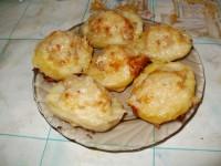 Картофельные лодочки со сметаной