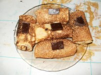 Блинчики с черносливом и грецким орехом
