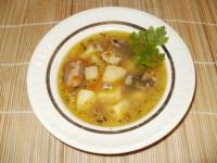 Суп с консервированной сайрой.