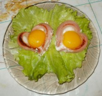 Яичница-сердечко или завтрак для любимого