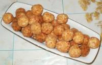 Горячие крабово-сырные шарики жареные во фритюре