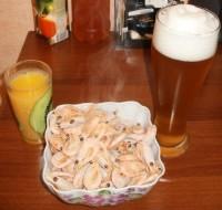 Вареные креветки к пиву