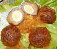 Фрикадельки Сюрприз с перепелиными яйцами