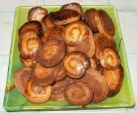 Двухслойное песочное печенье