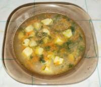 Постный суп со свежей крапивой