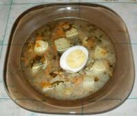 Суп со свежим щавелем
