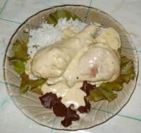 Куриные голени запеченные в сливочно-чесночном соусе