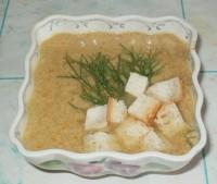 Сливочный суп-пюре с шампиньонами