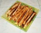 Сигаретки из лаваша с сырной начинкой
