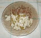 Стручковая фасоль в пикантном сырном соусе