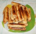 Сигаретки-пирожки с капустной начинкой