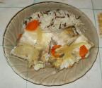 Судак в пароварке с овощами
