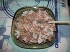 Начинка из консервированной сайры с рисом