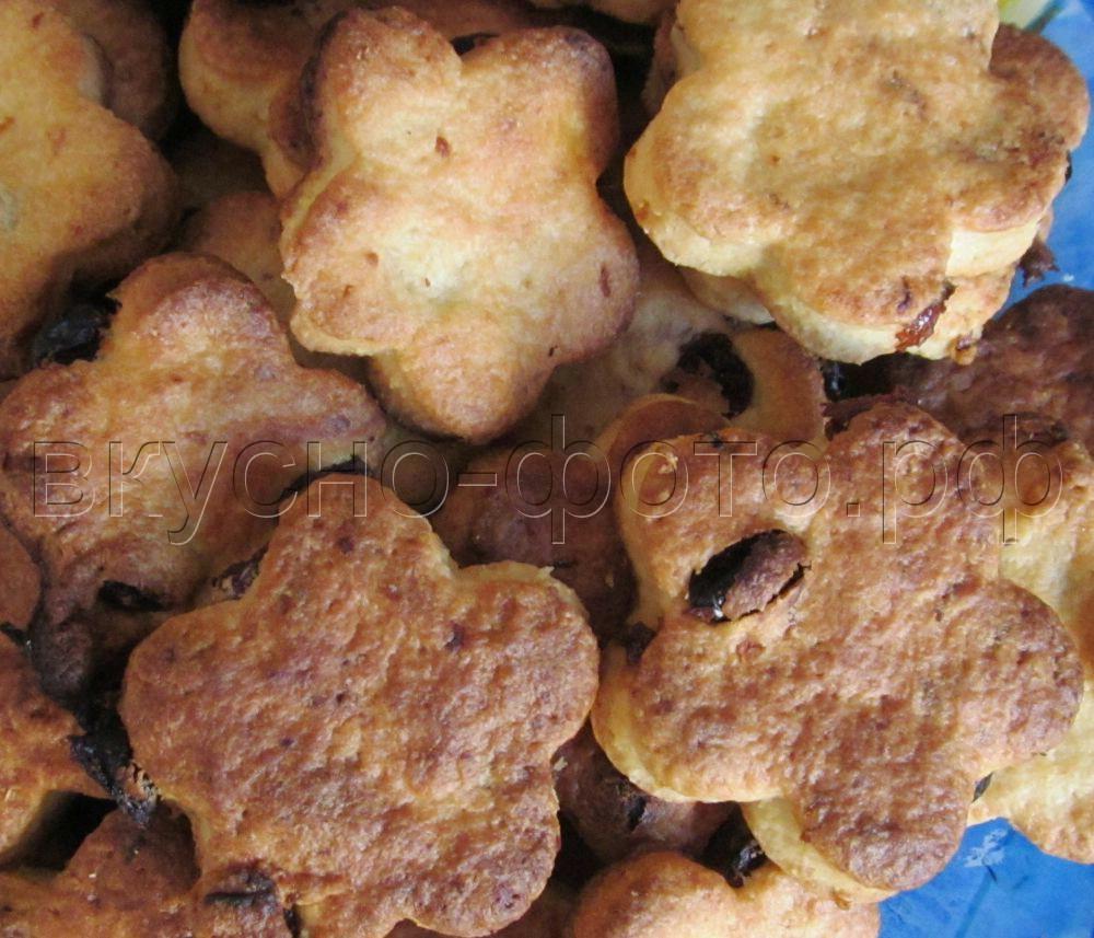 Песочное печенье с изюмом и лимоном