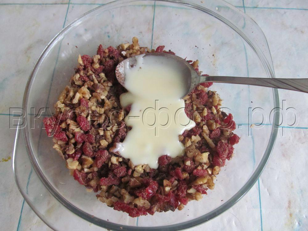 Орехово вишневые конфеты в белом шоколаде