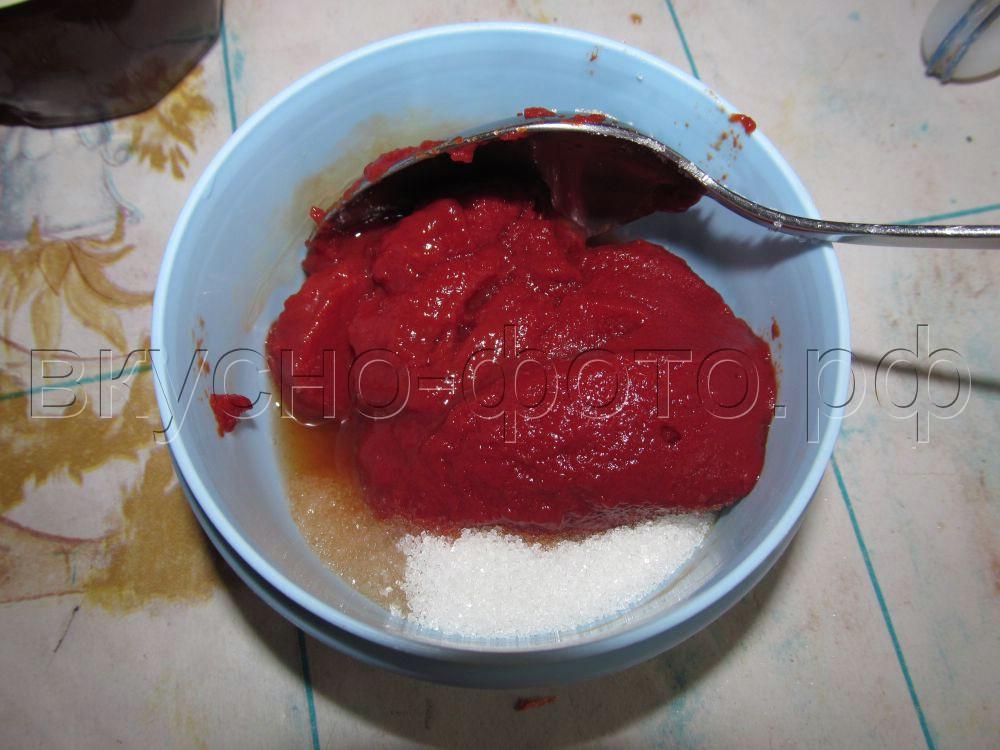Мясо в кисло-сладком соусе вариант 1