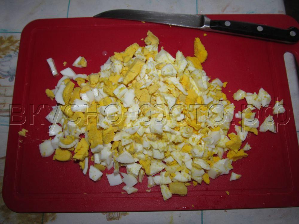 Начинка из вареных яиц с зеленым луком