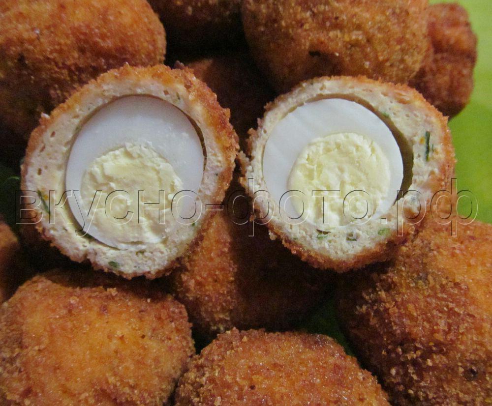 Перепелиные яйца по шотландски