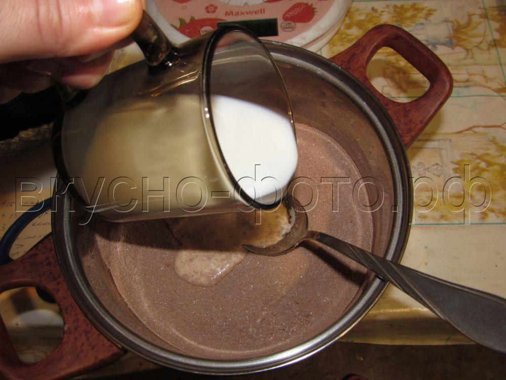 Домашние конфеты Шоколадная помадка с цукатами
