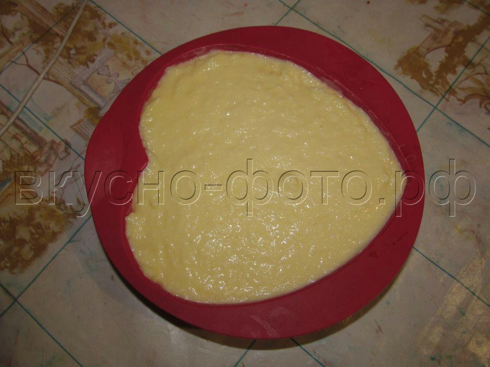 Двухслойный торт мороженое Малиновое сердце