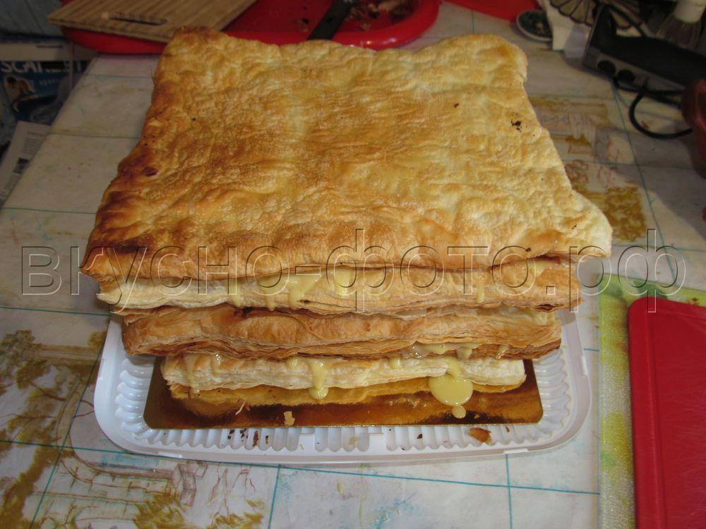 Торт Наполеон из покупного слоеного теста