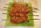 Шашлычок в духовке из курицы с ананасами