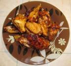 Крылышки запеченные в томатно медовом соусе