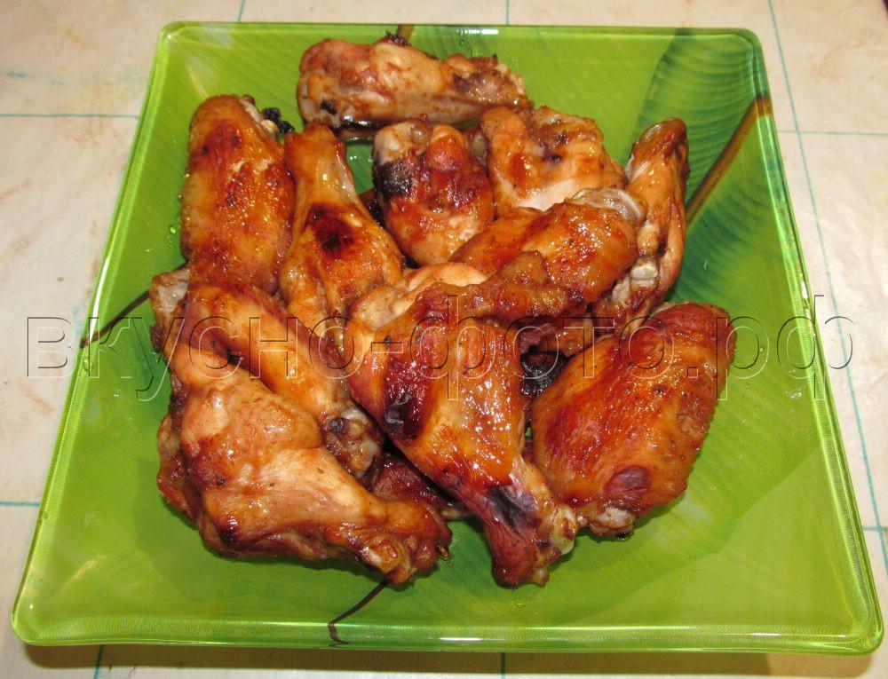 Острые крылышки запеченные в духовке