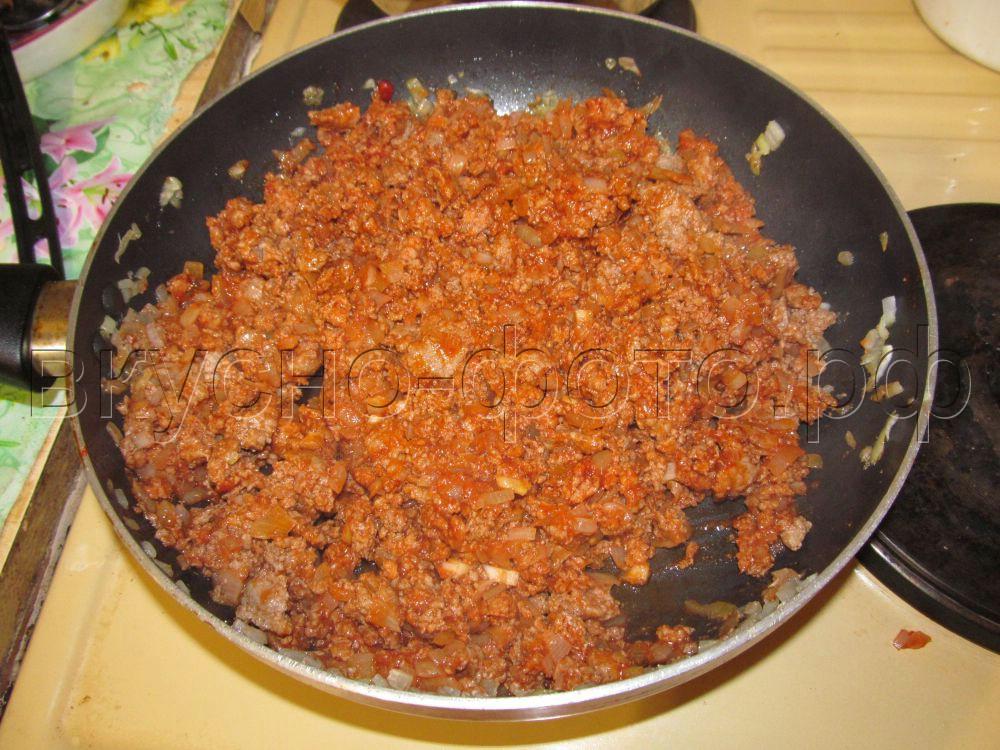 Запеканка из кабачка с фаршем и помидорами