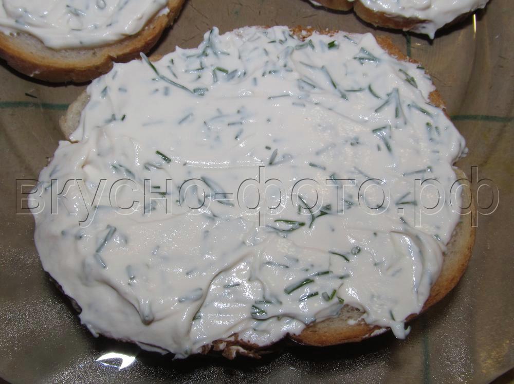 Домашний крем сыр с зеленью