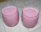 Молочный малиновый коктейль