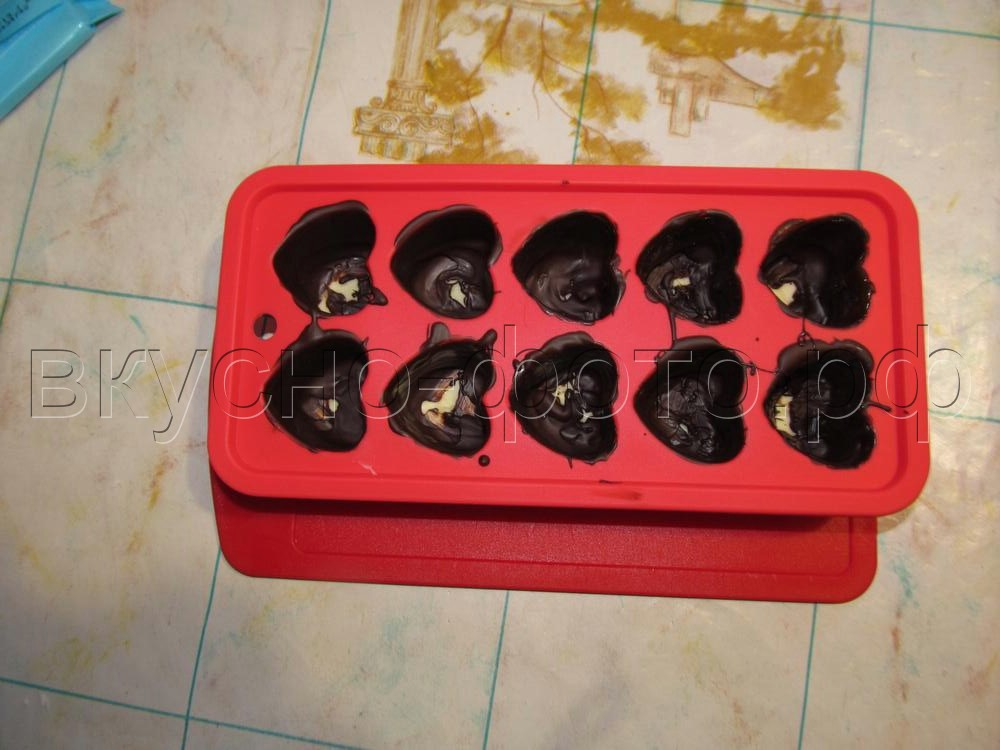 Домашние шоколадные конфеты с кокосовой начинкой
