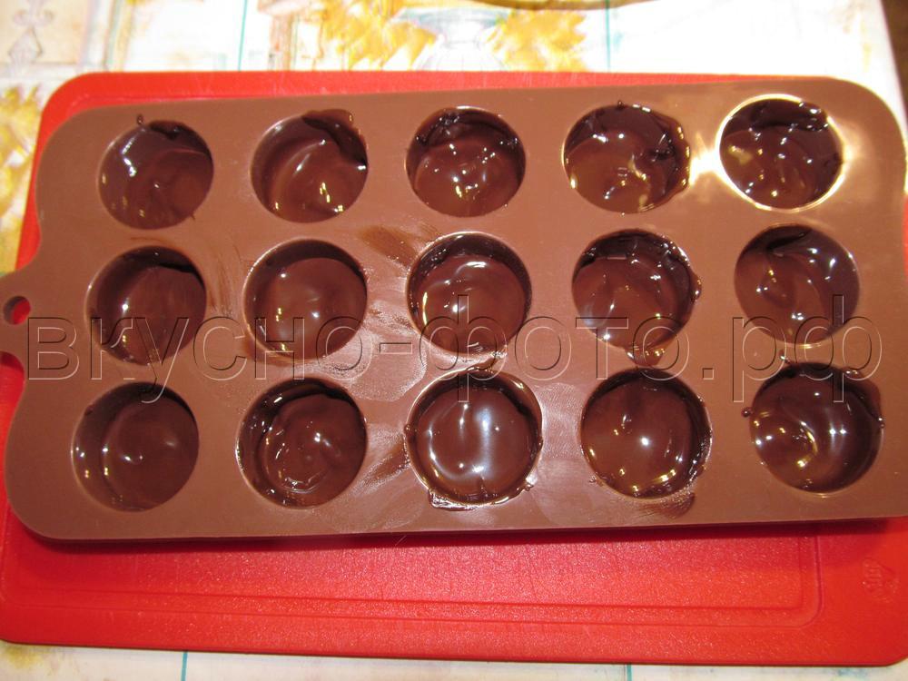 Домашние шоколадные конфеты с лесным орехом