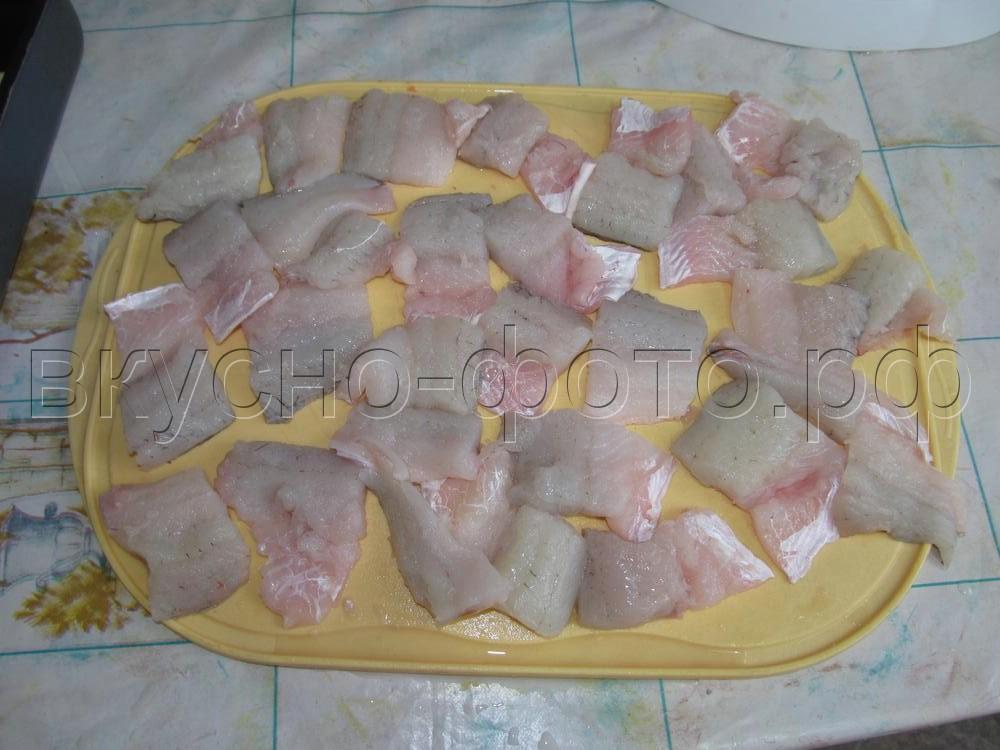 Запеканка из филе судака в сливочной заливке
