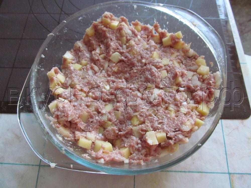 Манты из мяса с картошкой