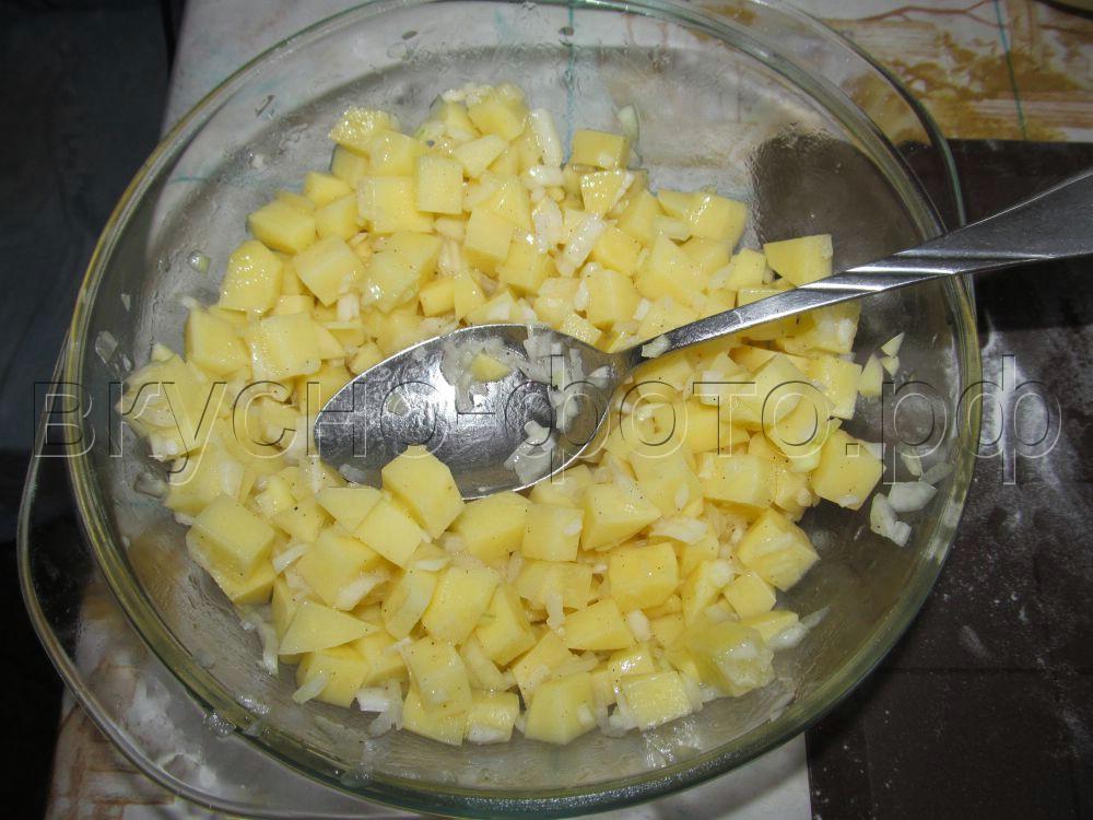 Паровые вареники с сырой картошкой