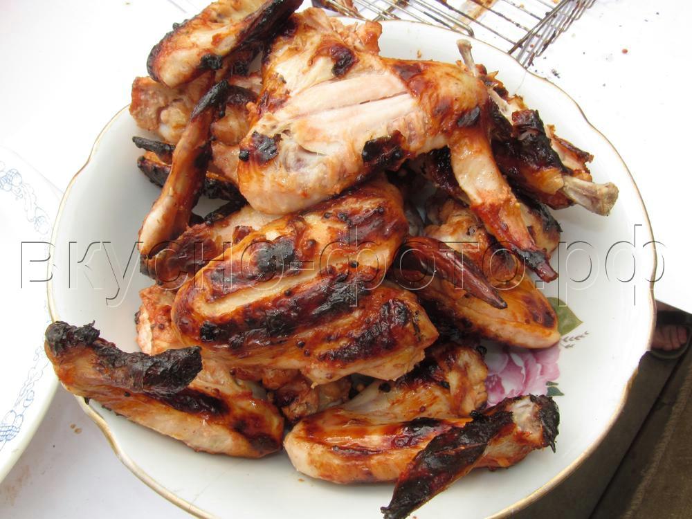 Куриные крылышки в кефирно томатном маринаде