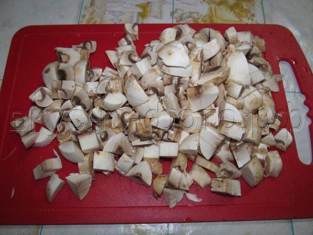 Гречка с грибами и мясом