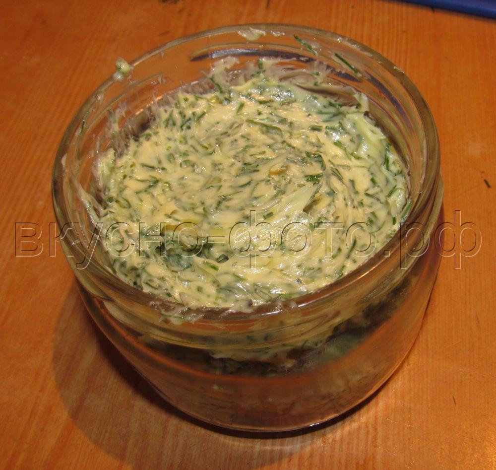Домашнее зеленое сливочное масло