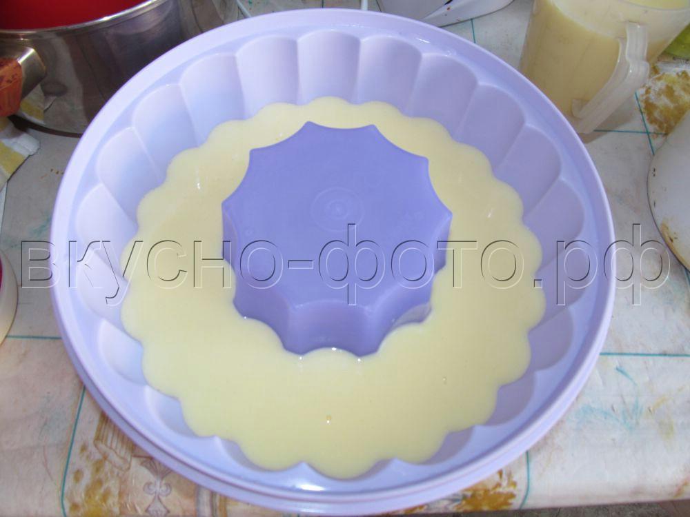 Домашний трехслойный торт мороженое