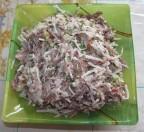 Салат из вареного мяса и дайкона
