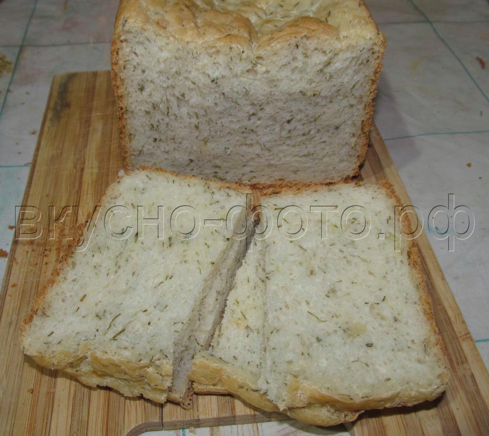 Хлеб с луком и укропом (луковый хлеб)