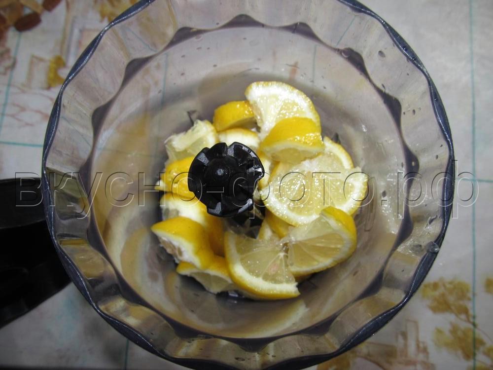 Пюре из лимона с клюквой