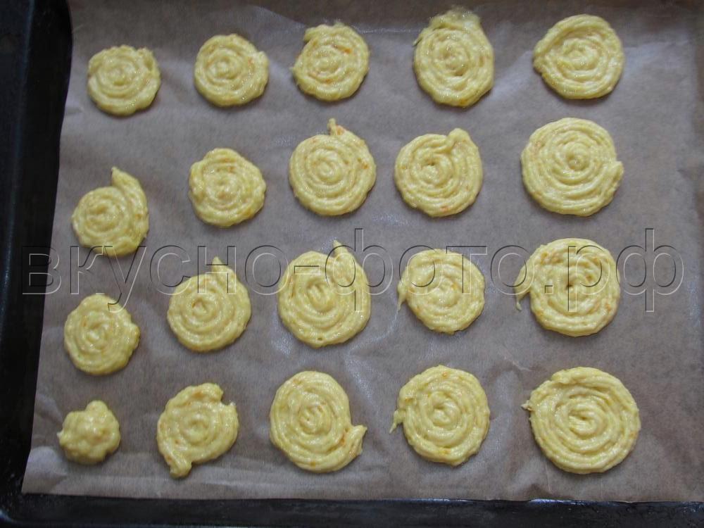 Апельсиново-медовое постное печенье