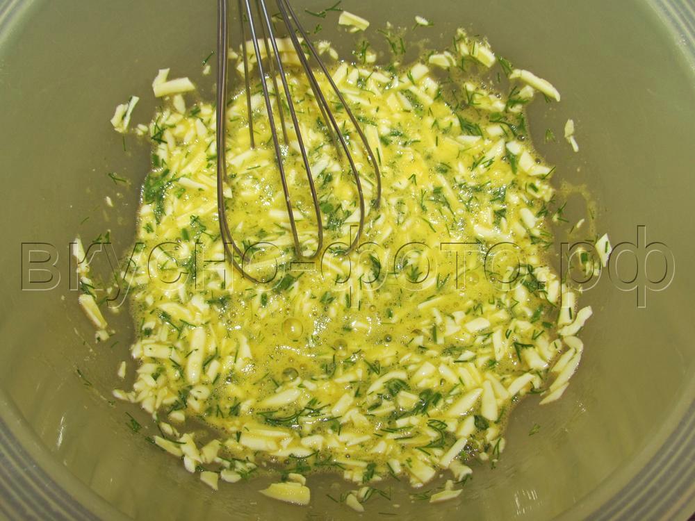 Кексы из плавленных сырков с зеленью