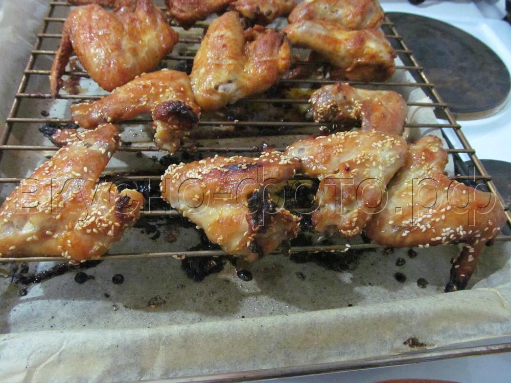 Куриные крылышки с имбирем и кунжутом1