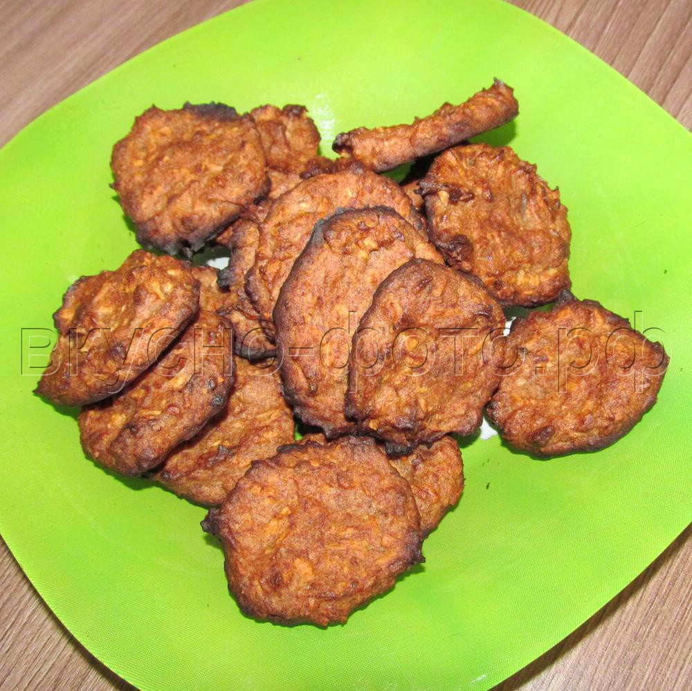 Бананово-кокосовое веганское печенье
