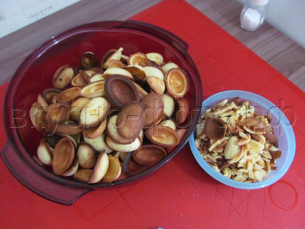 Хрустящие орешки с вареной сгущенкой