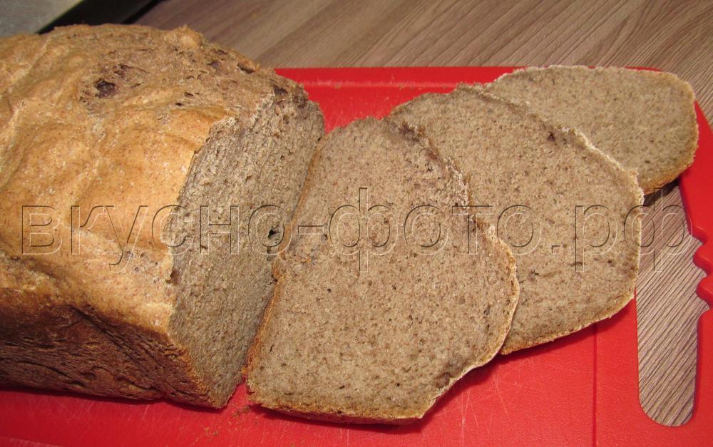 Пшеничный хлеб с льняной мукой в хлебопечке VITEK VT-1991 ST
