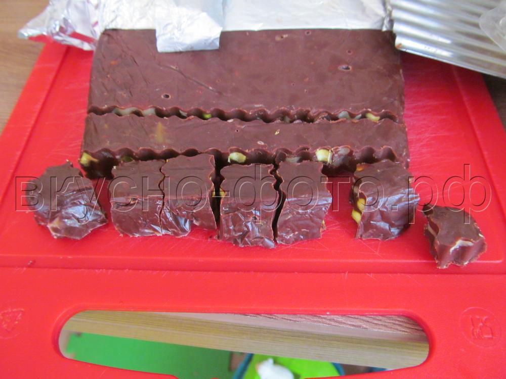 Домашние шоколадные конфеты с орехам